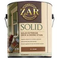 Zar Deck Amp Siding Solid Dark Base Gallon
